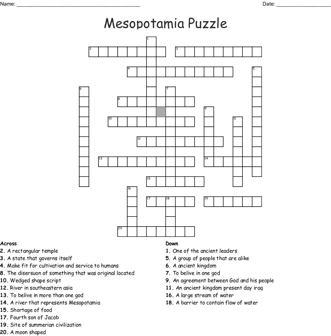 Micah Crossword