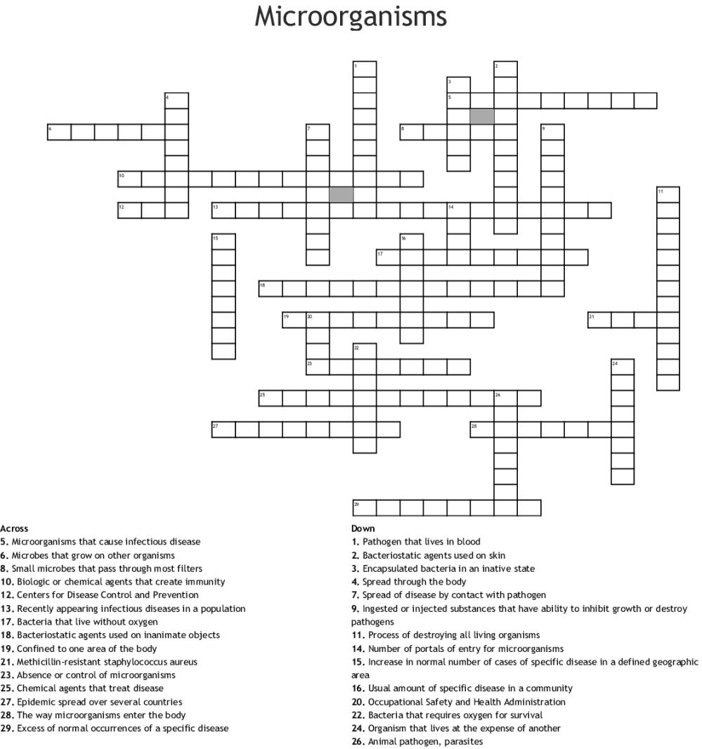 medium resolution of microorganisms crossword