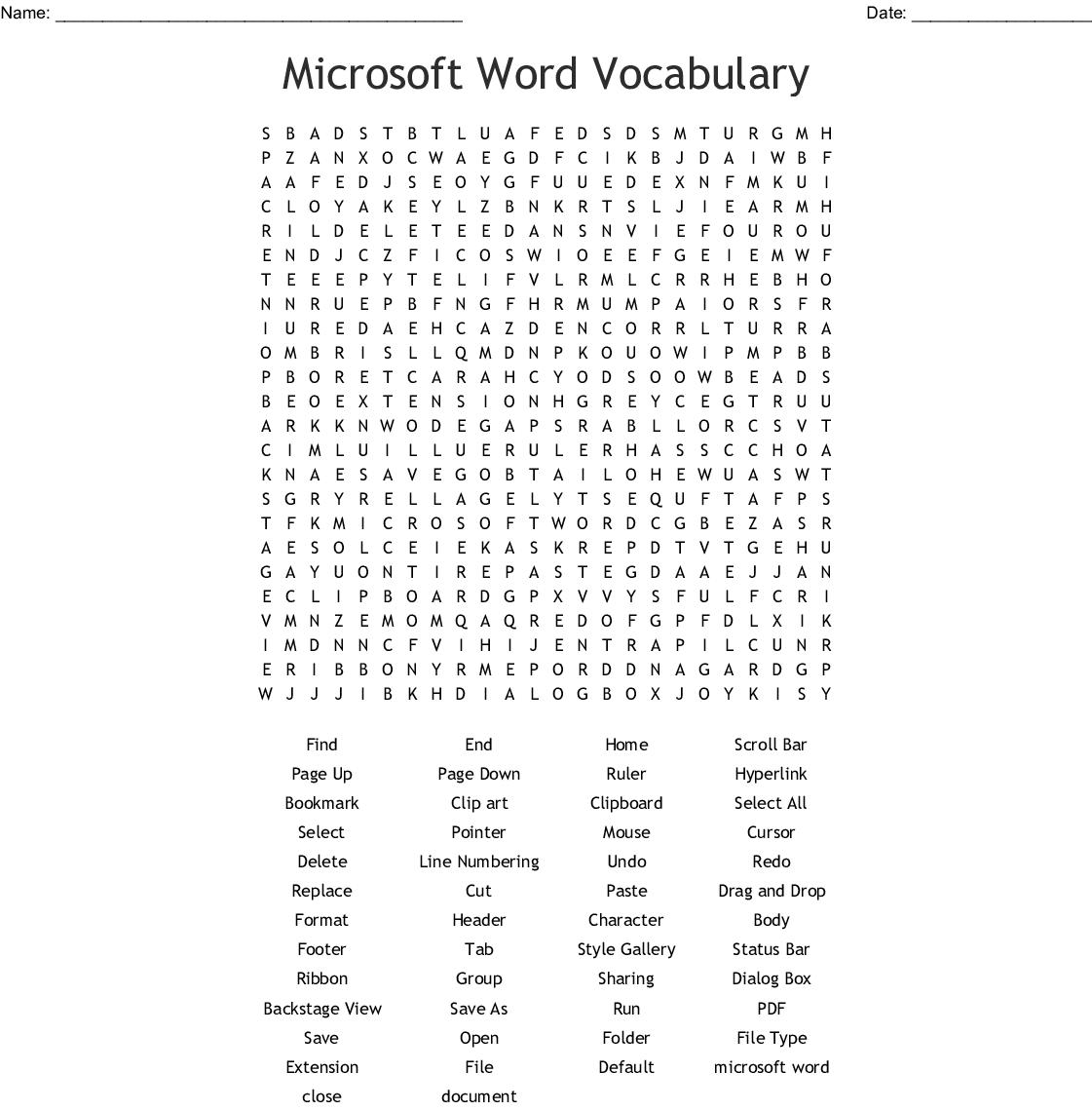 Microsoft Excel Word Scramble