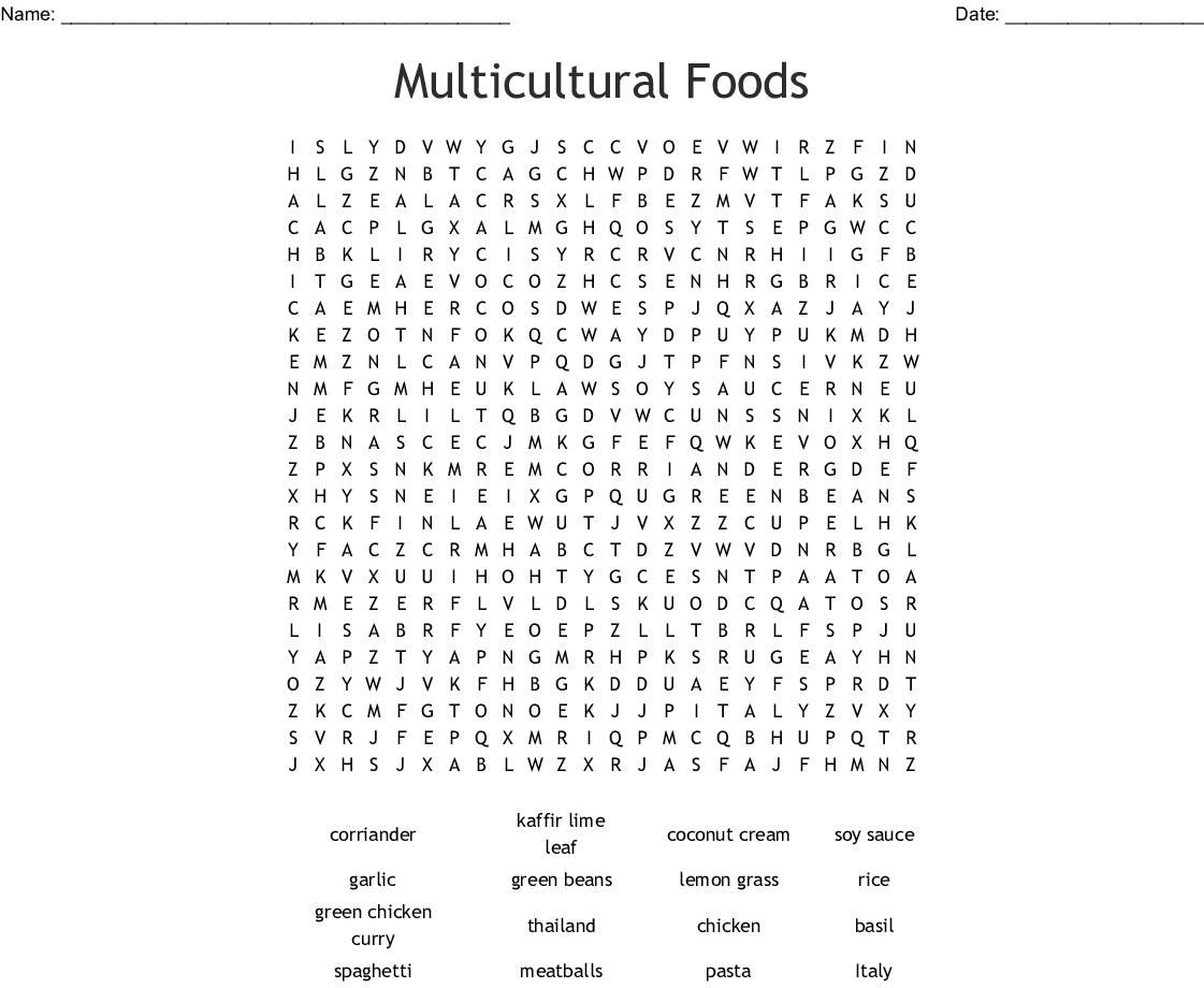 World Hunger Word Search