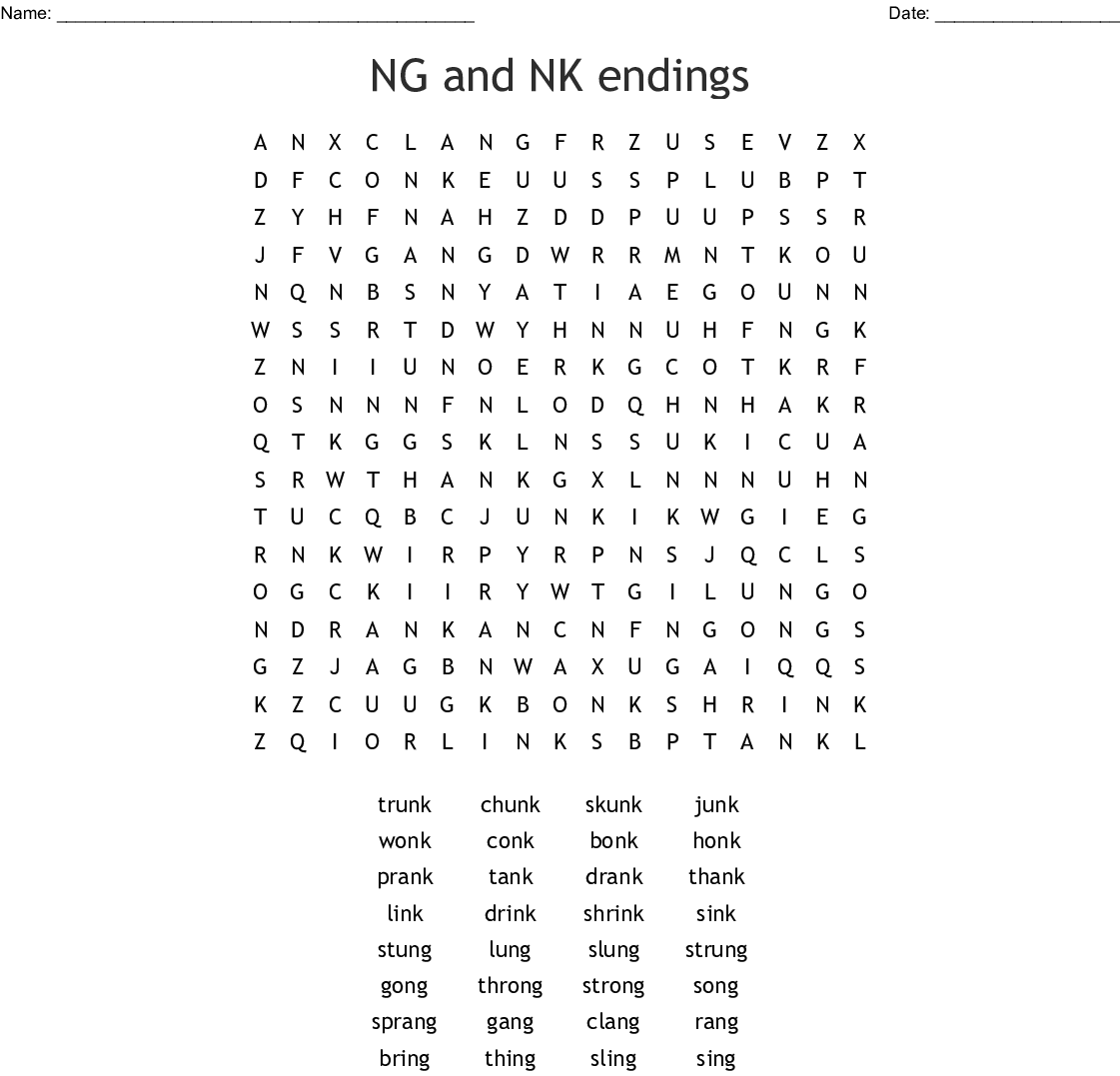 Ng Words Word Search