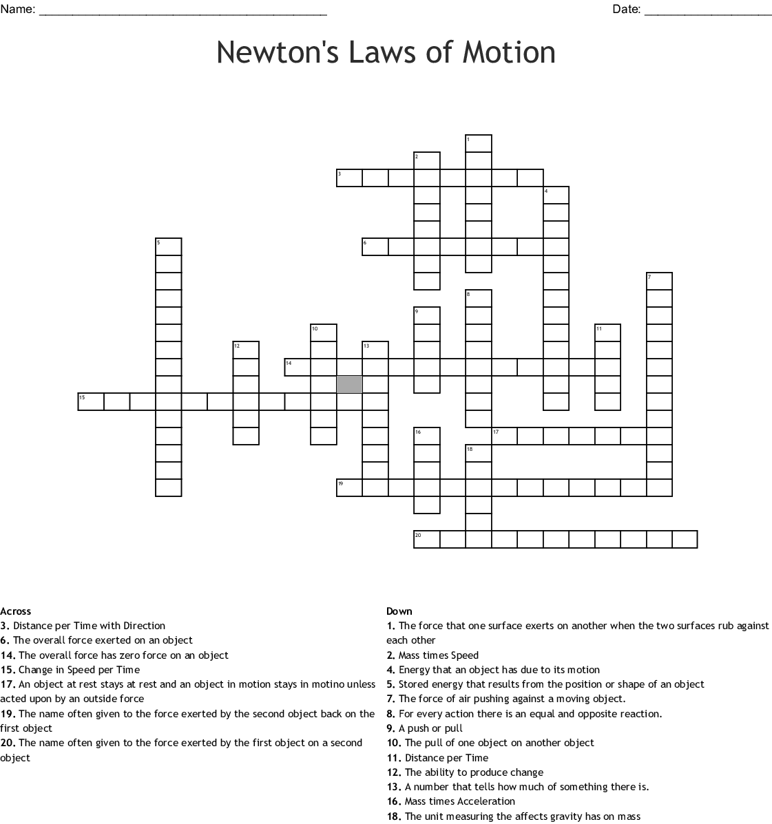 Newtons Laws Of Motion Worksheet Answers