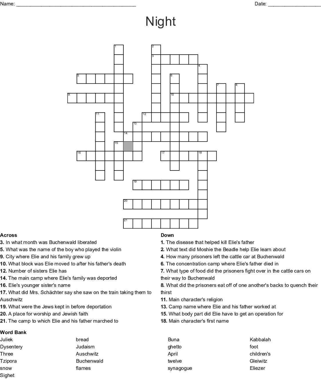Night Crossword