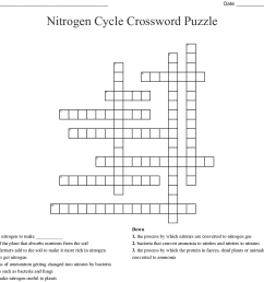 nitrogen cycle crossword puzzle created jan 23 2019 [ 1121 x 1010 Pixel ]
