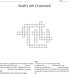 noah s ark crossword [ 1121 x 973 Pixel ]