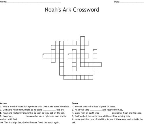 small resolution of noah s ark crossword