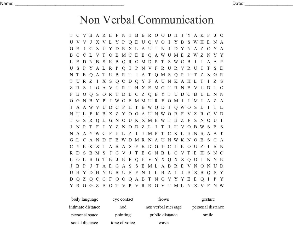 Communication Skills Word Search