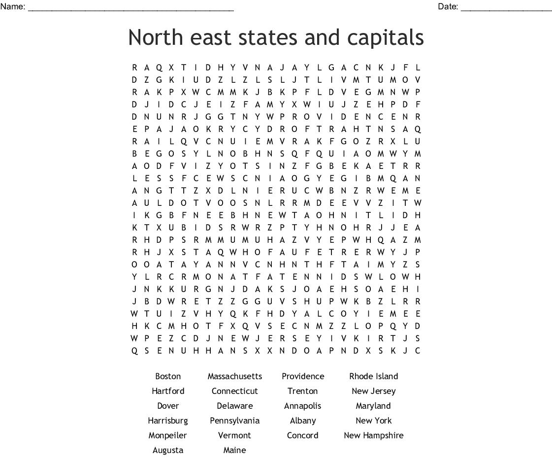 Original 13 Colonies Word Search