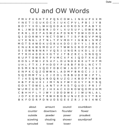 Ou Or Ow Worksheet   Printable Worksheets and Activities for Teachers [ 900 x 1121 Pixel ]