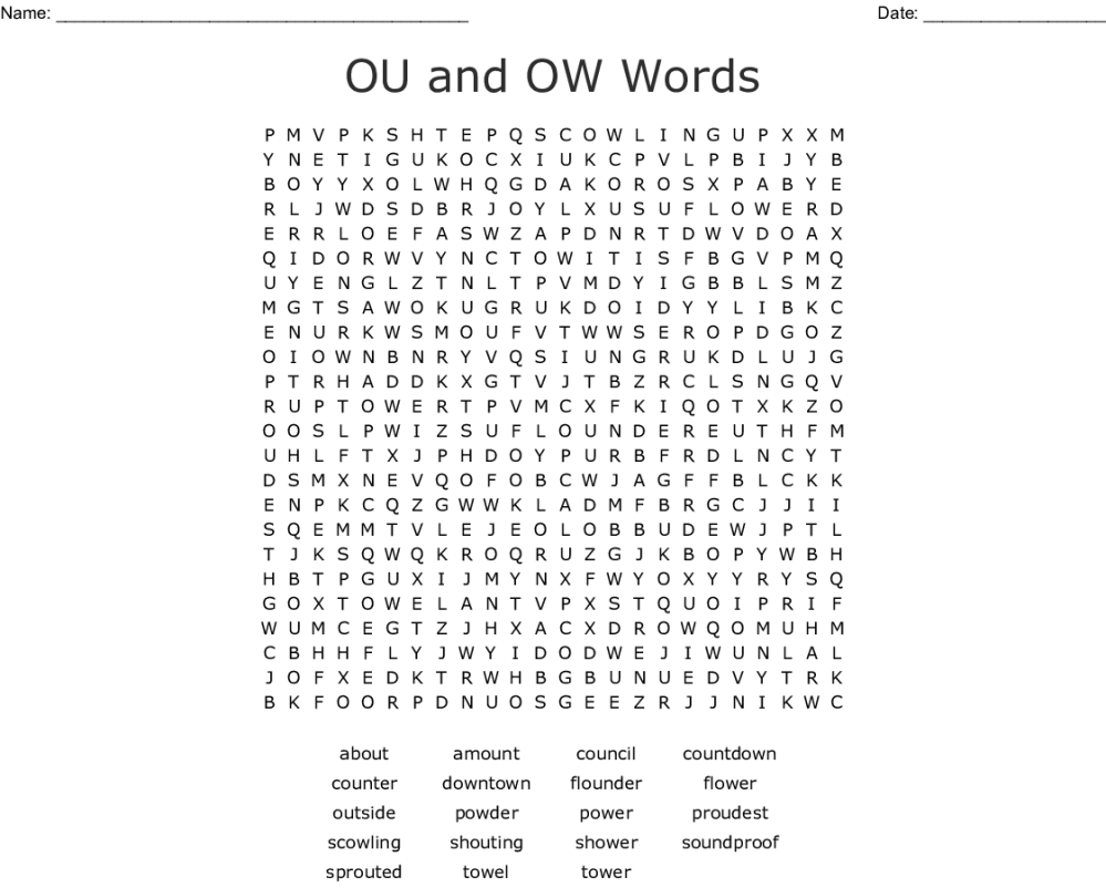 medium resolution of Ou Or Ow Worksheet   Printable Worksheets and Activities for Teachers