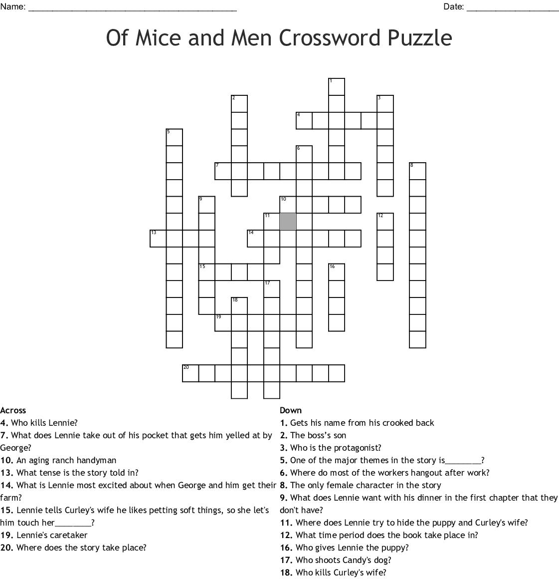 Pusheen Crossword