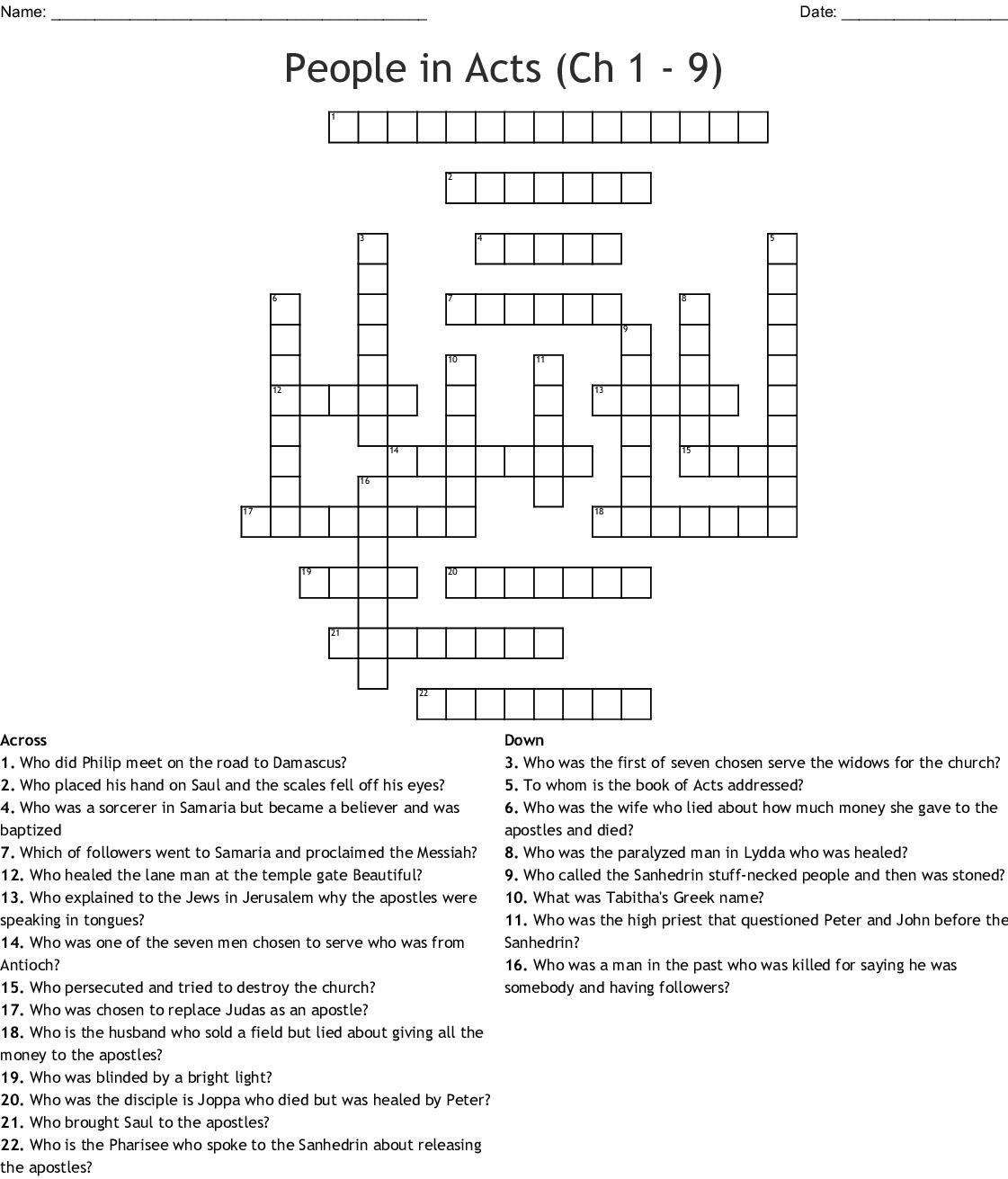 Paul S Conversion Crossword