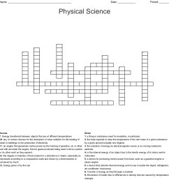 physical science crossword [ 1121 x 1187 Pixel ]