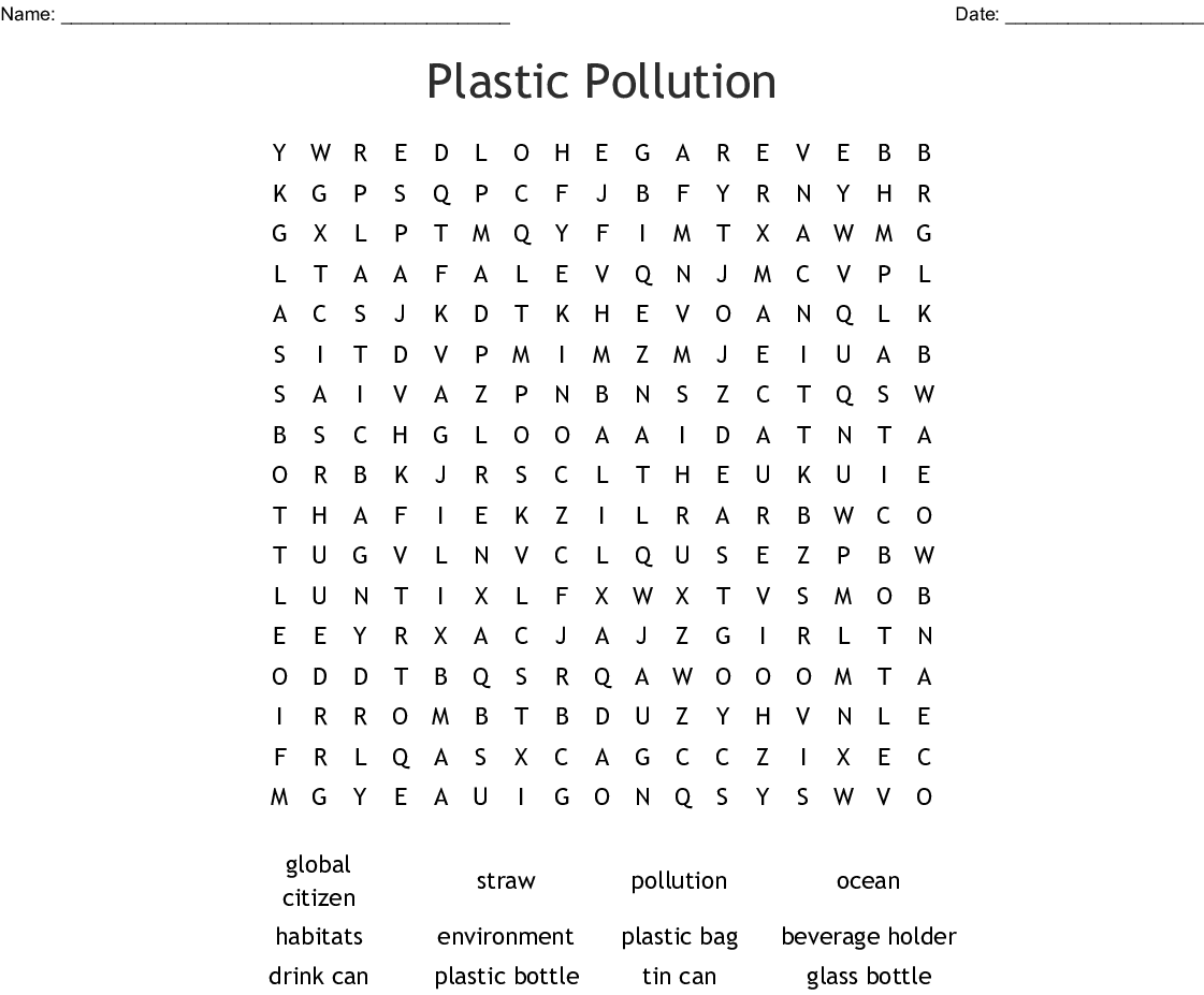 Similar To Ocean Conservation Wordsearch