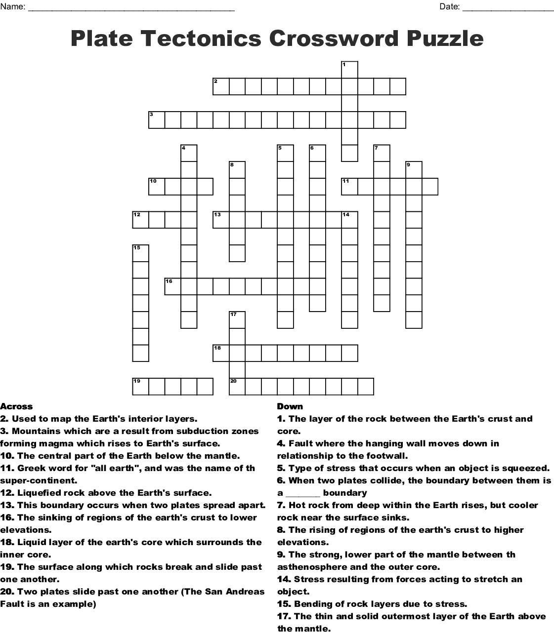 Chapter 8 Vocabulary Crossword - WordMint