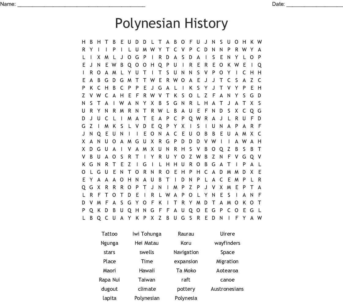 Polynesia Crossword