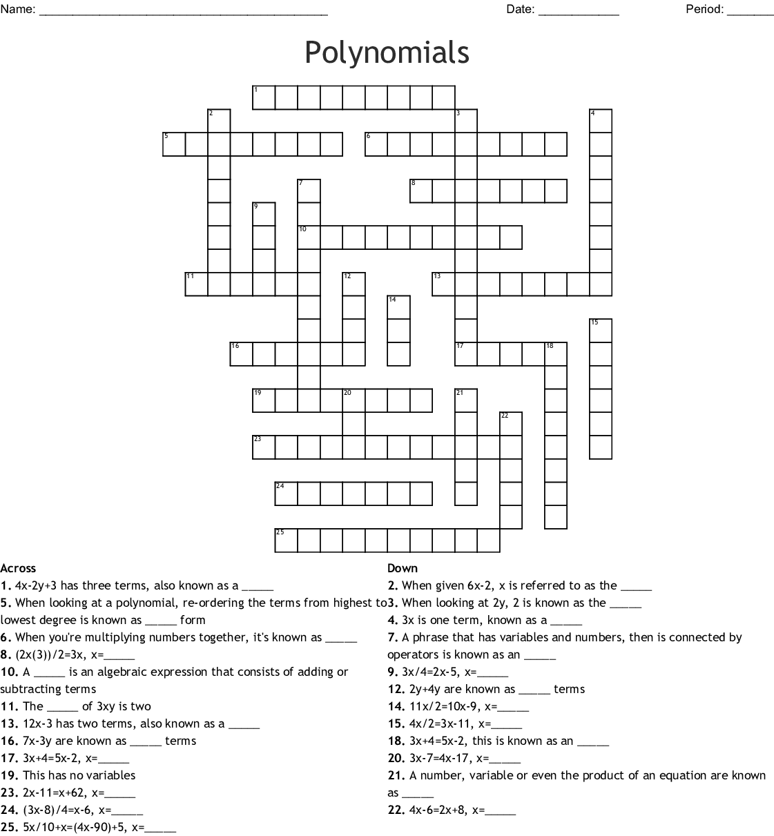 Puzzle May