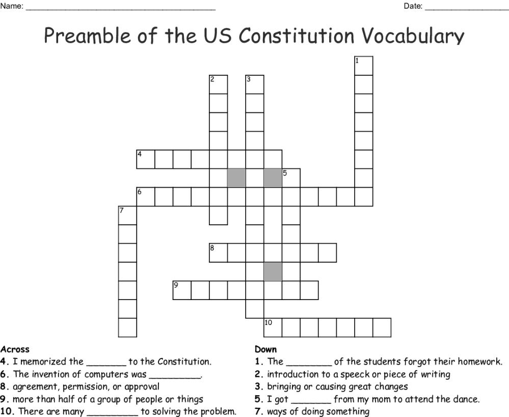 medium resolution of preamble of the us constitution vocabulary crossword