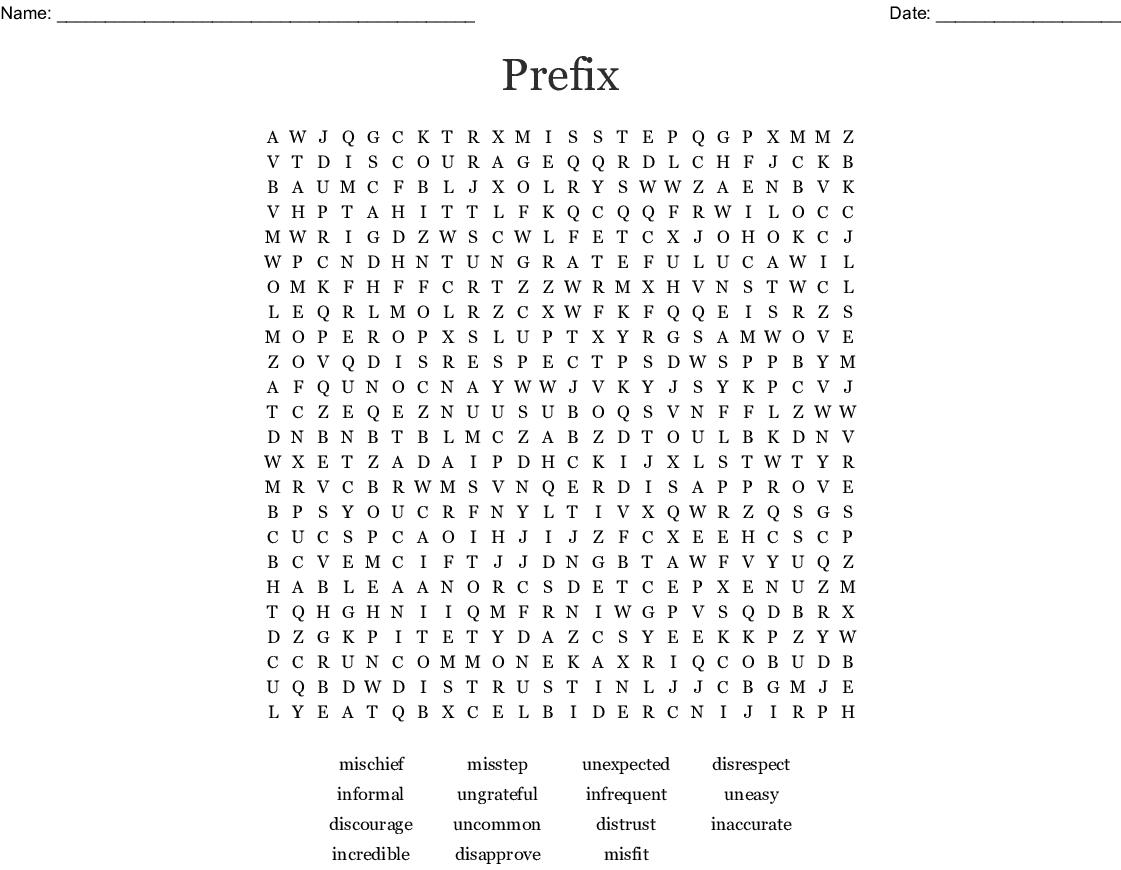 Prefix Word Search