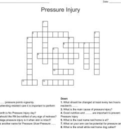 pressure injury crossword [ 1121 x 998 Pixel ]