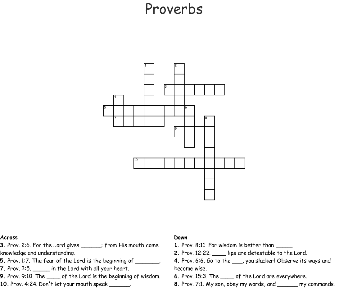hight resolution of Proverbs Worksheet Puzzle   Printable Worksheets and Activities for  Teachers