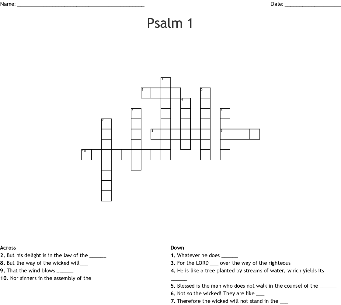 Psalm 119 Word Search