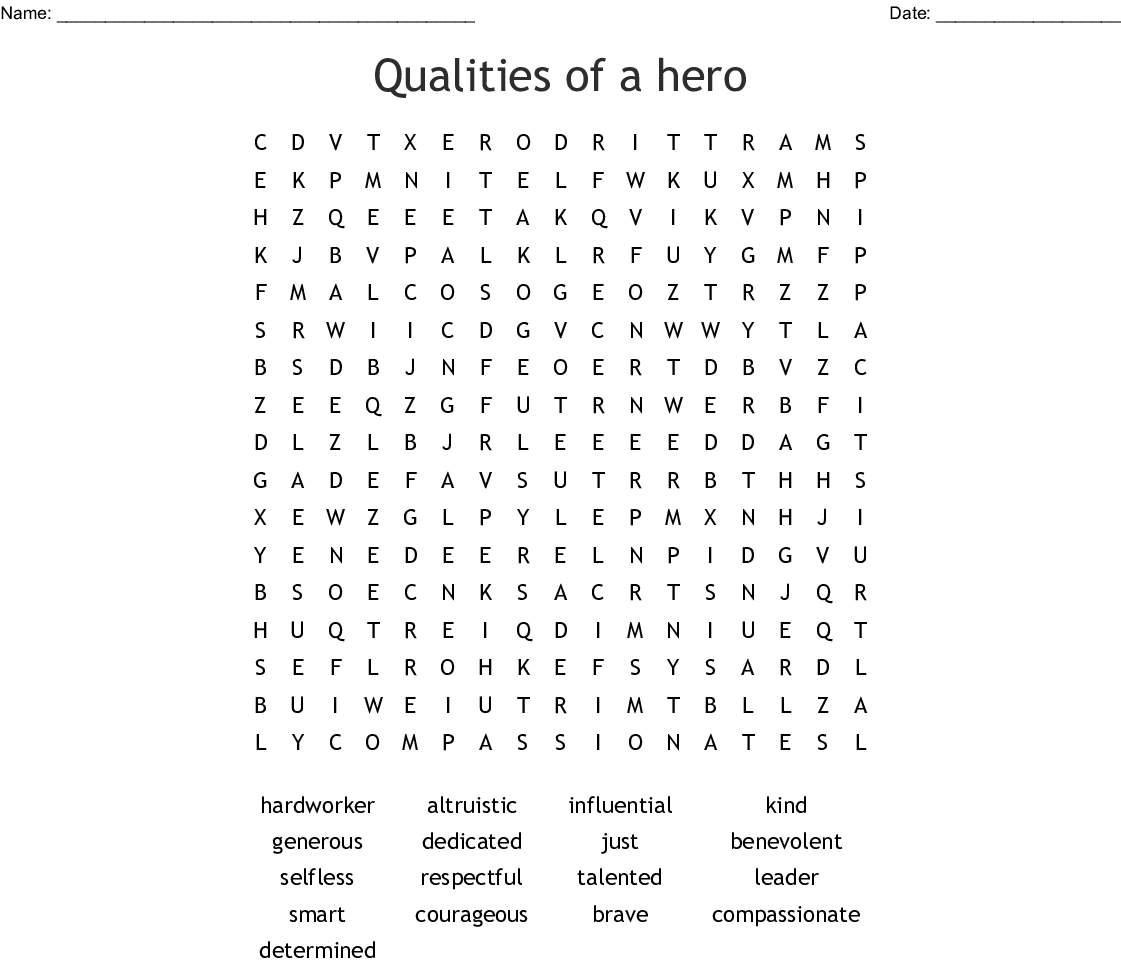 Terry Fox Word Search