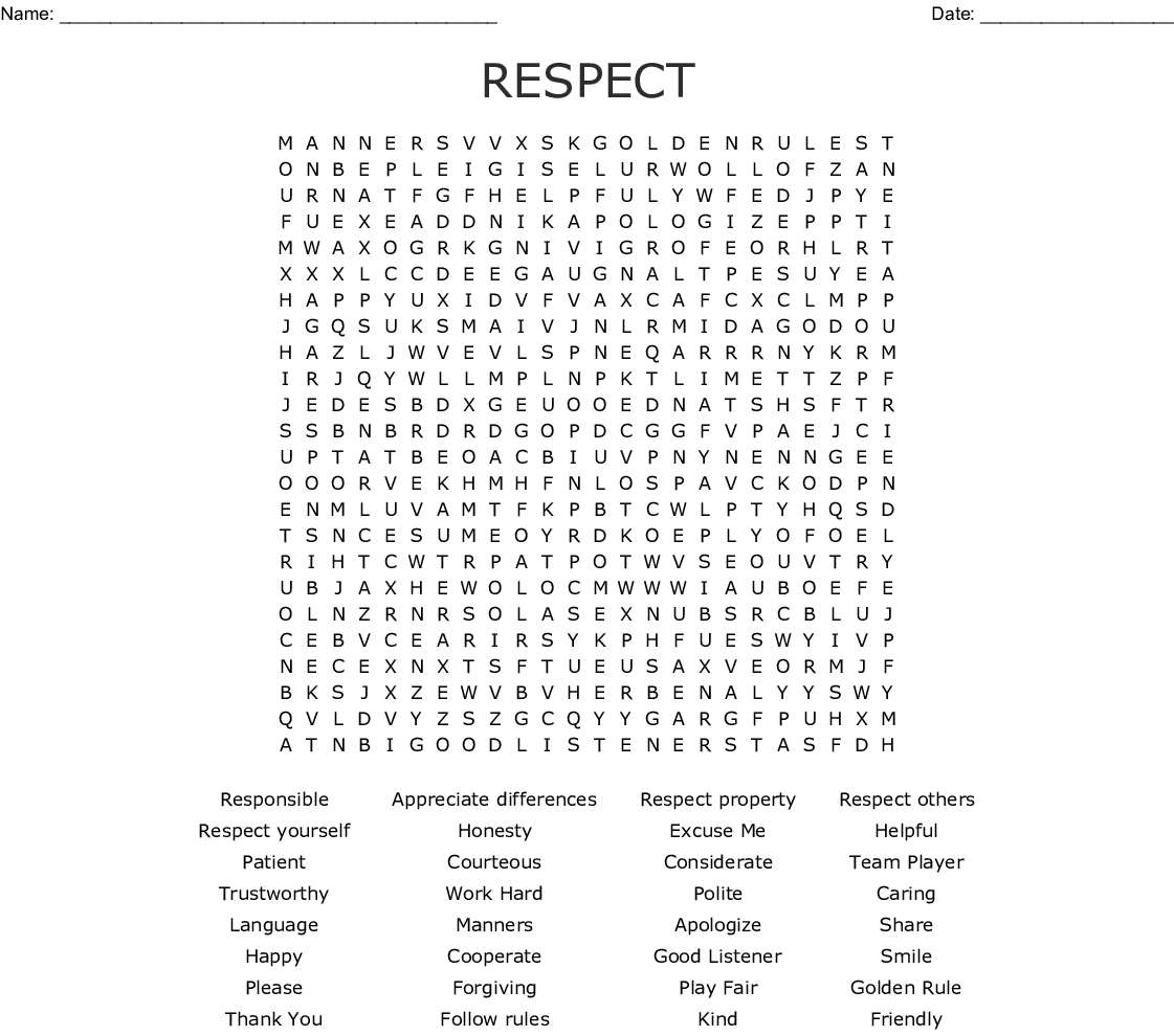 Social Skills And Friendship And Fun Word Search
