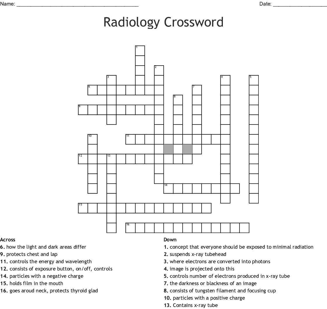 Radiology Crossword