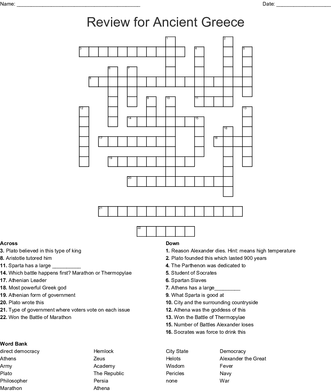 hight resolution of Ancient Greece Puzzles Worksheets   Printable Worksheets and Activities for  Teachers