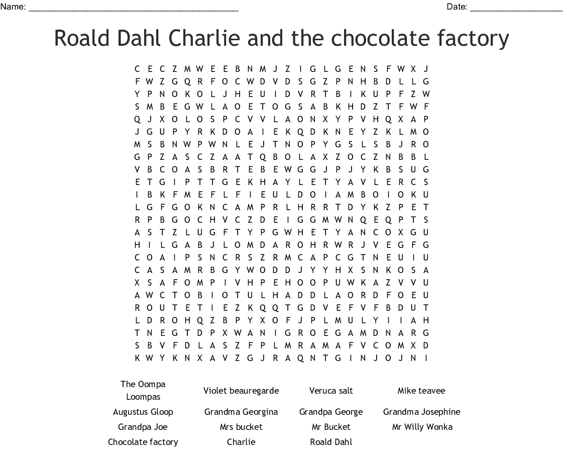 Top 100 Charlie And The Chocolate Factory Activities