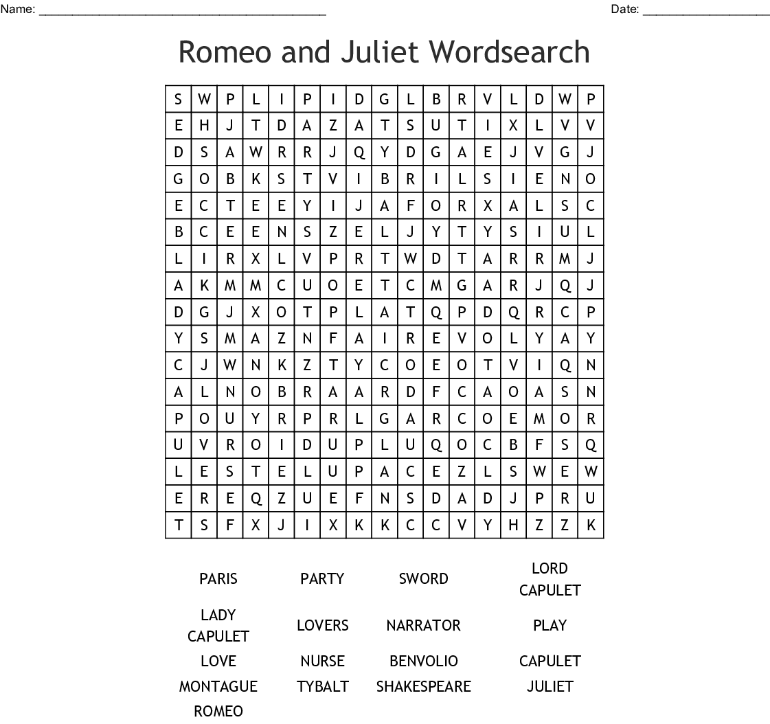 Acting & Theater Crosswords, Word Searches, Bingo Cards