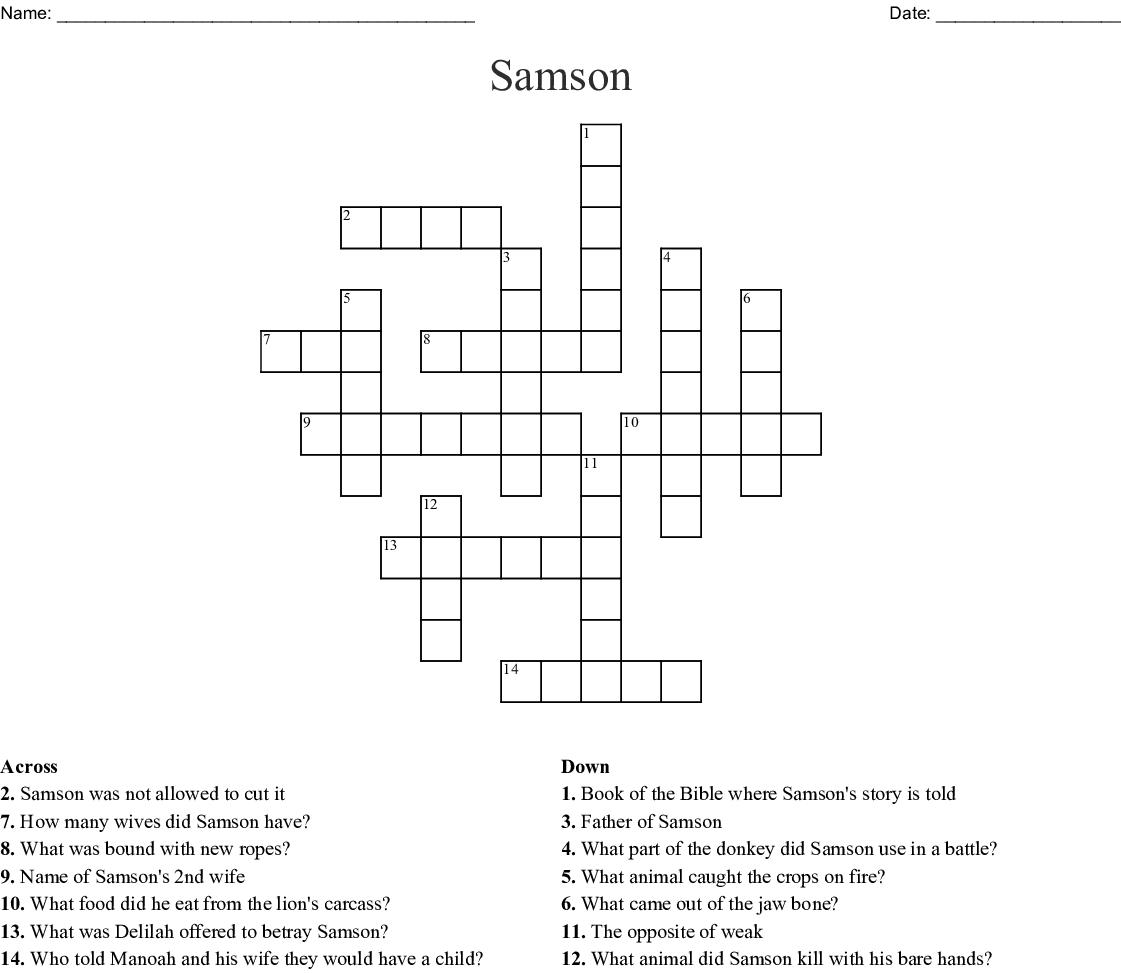 Samson Crossword