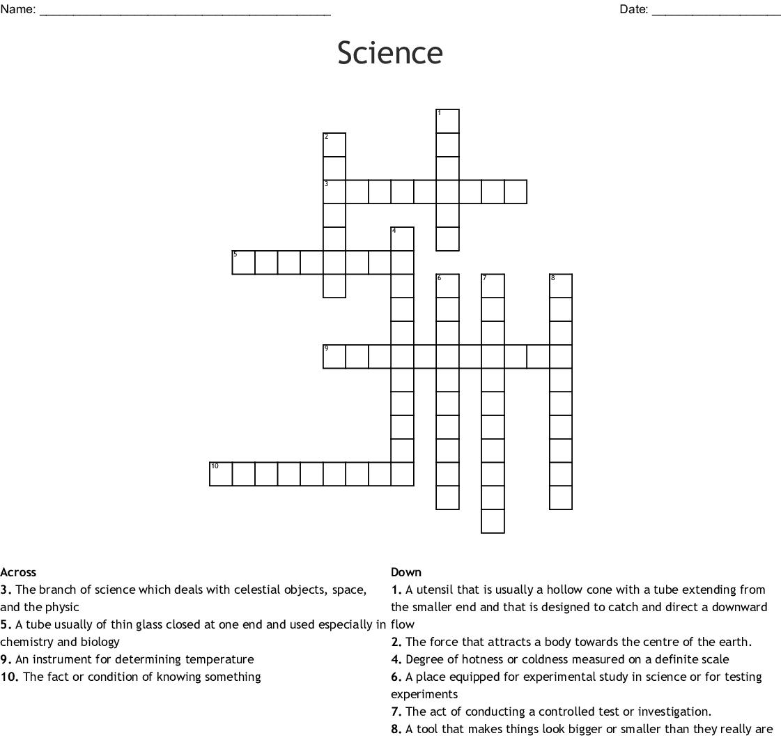 Science Crossword