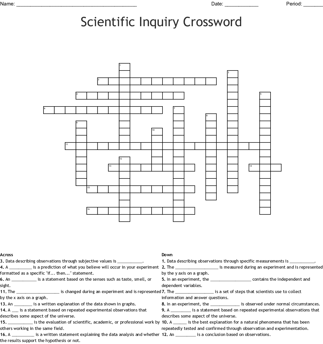 Scientific Method Word Search