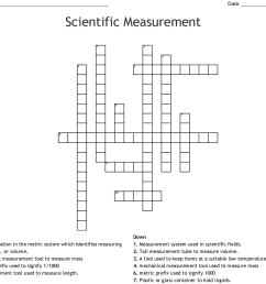 scientific measurement crossword [ 1121 x 985 Pixel ]