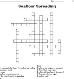 seafloor spreading crossword [ 1121 x 983 Pixel ]
