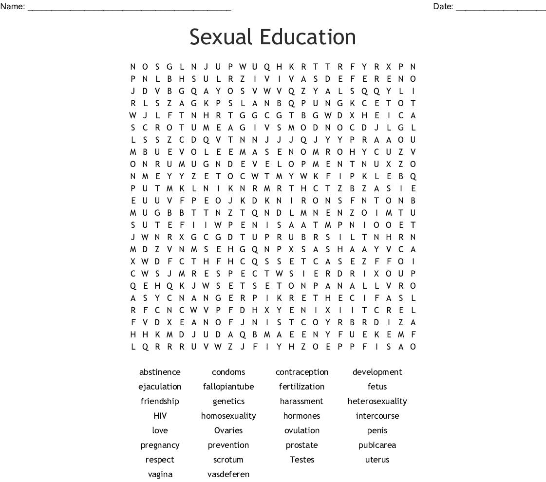 Crcsual Health Crossword Puzzle