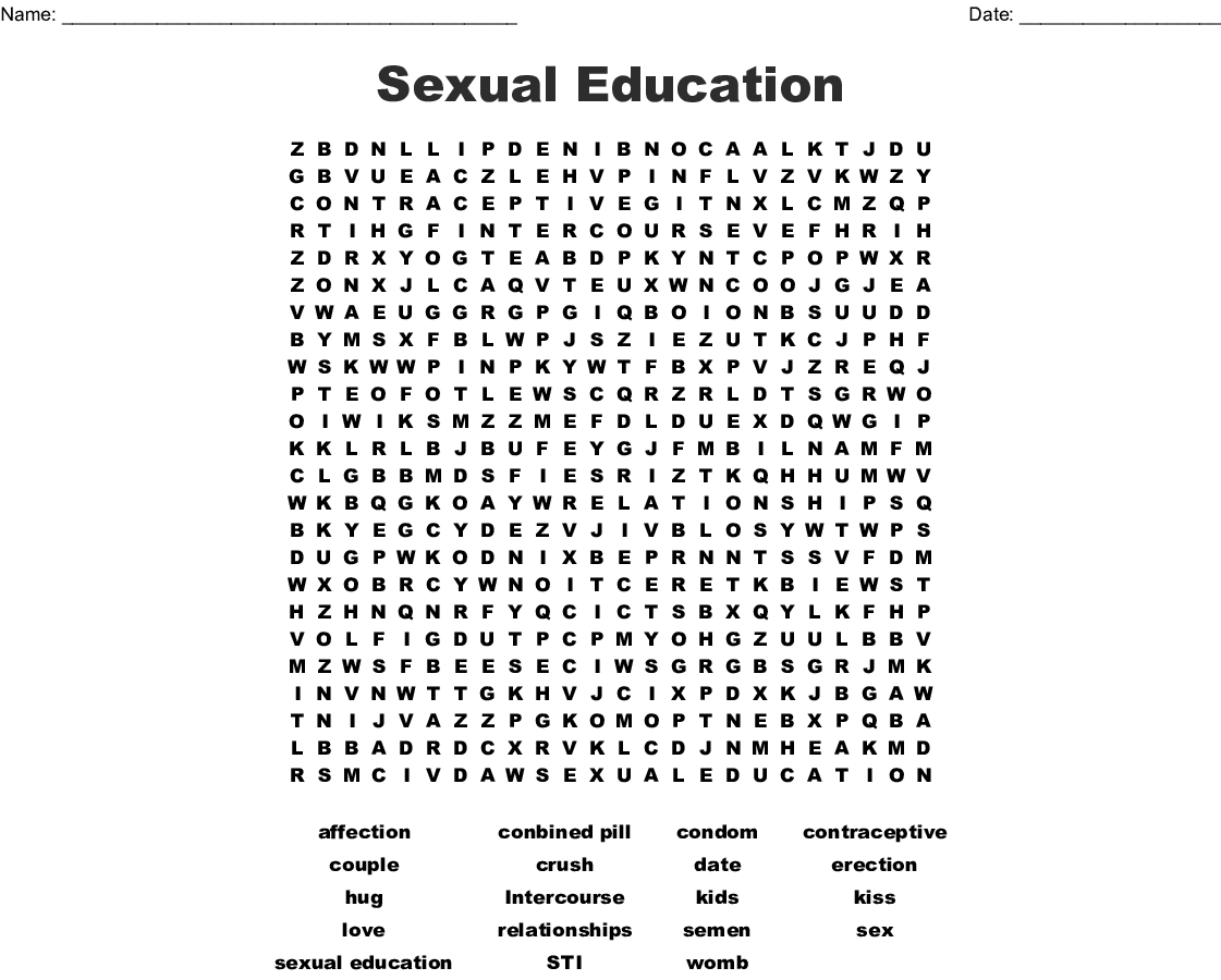 Ual Education Word Search