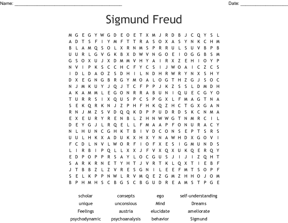 medium resolution of sigmund freud word search