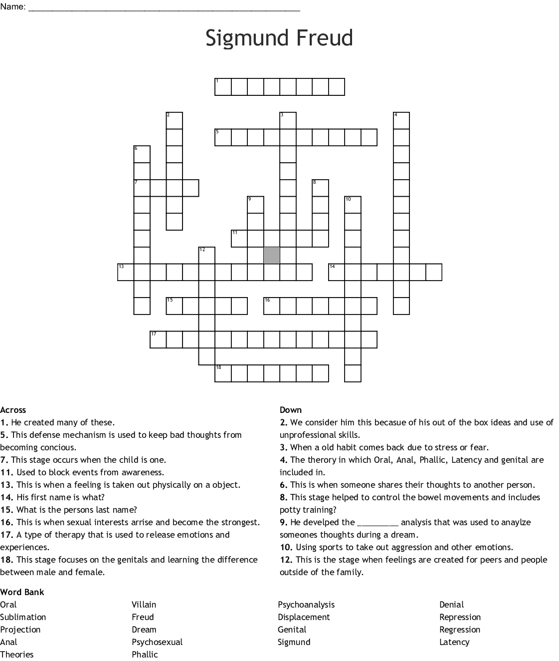 hight resolution of sigmund freud crossword