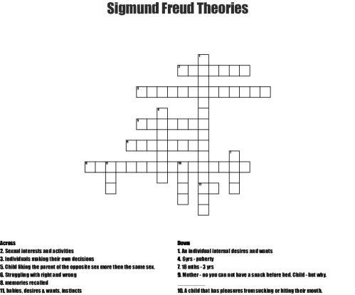 small resolution of sigmund freud theories crossword