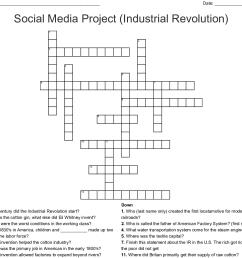 social media project industrial revolution crossword [ 1121 x 1036 Pixel ]