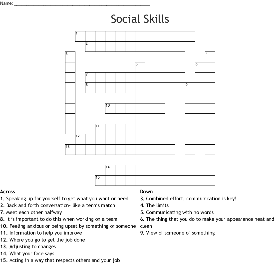 Stress Relief Crossword