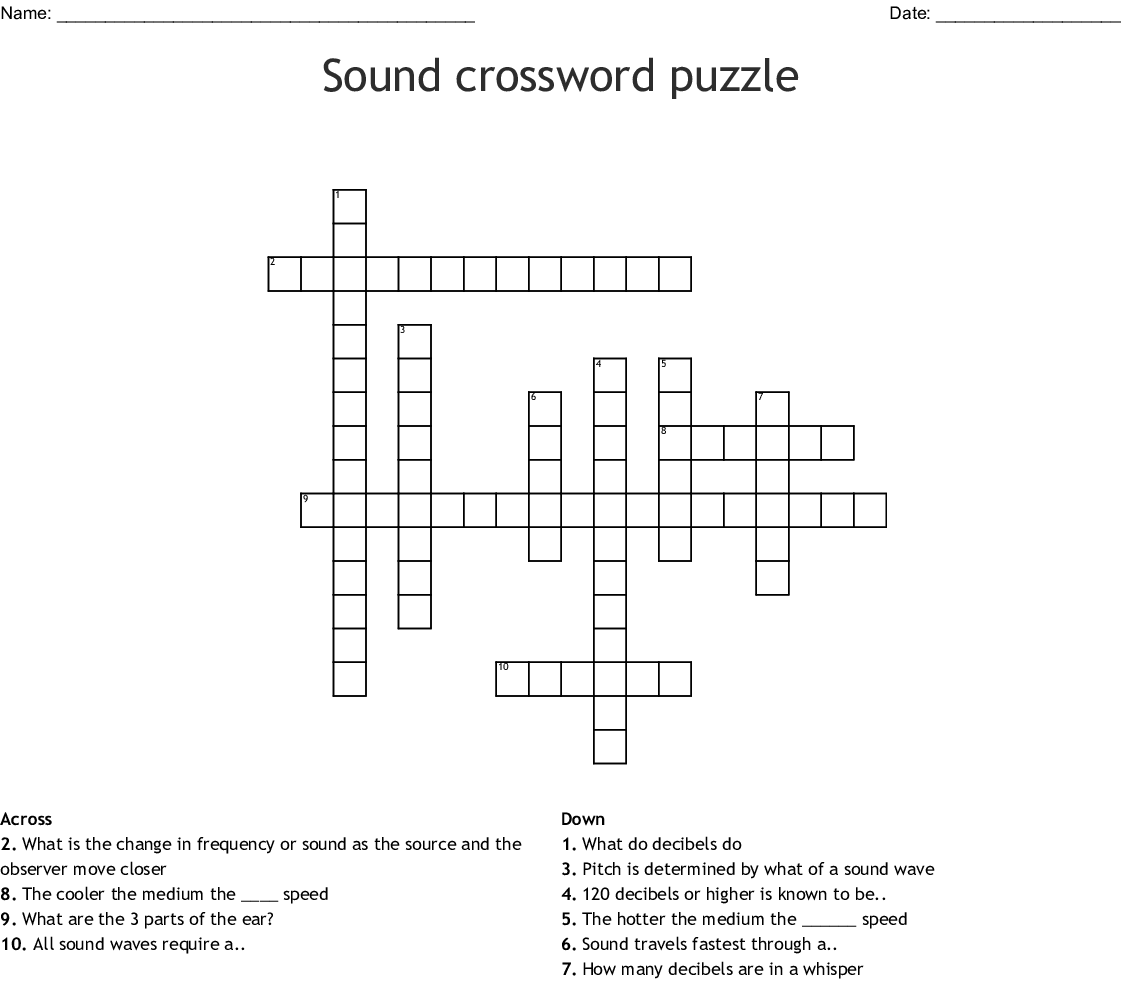 Sound Crossword