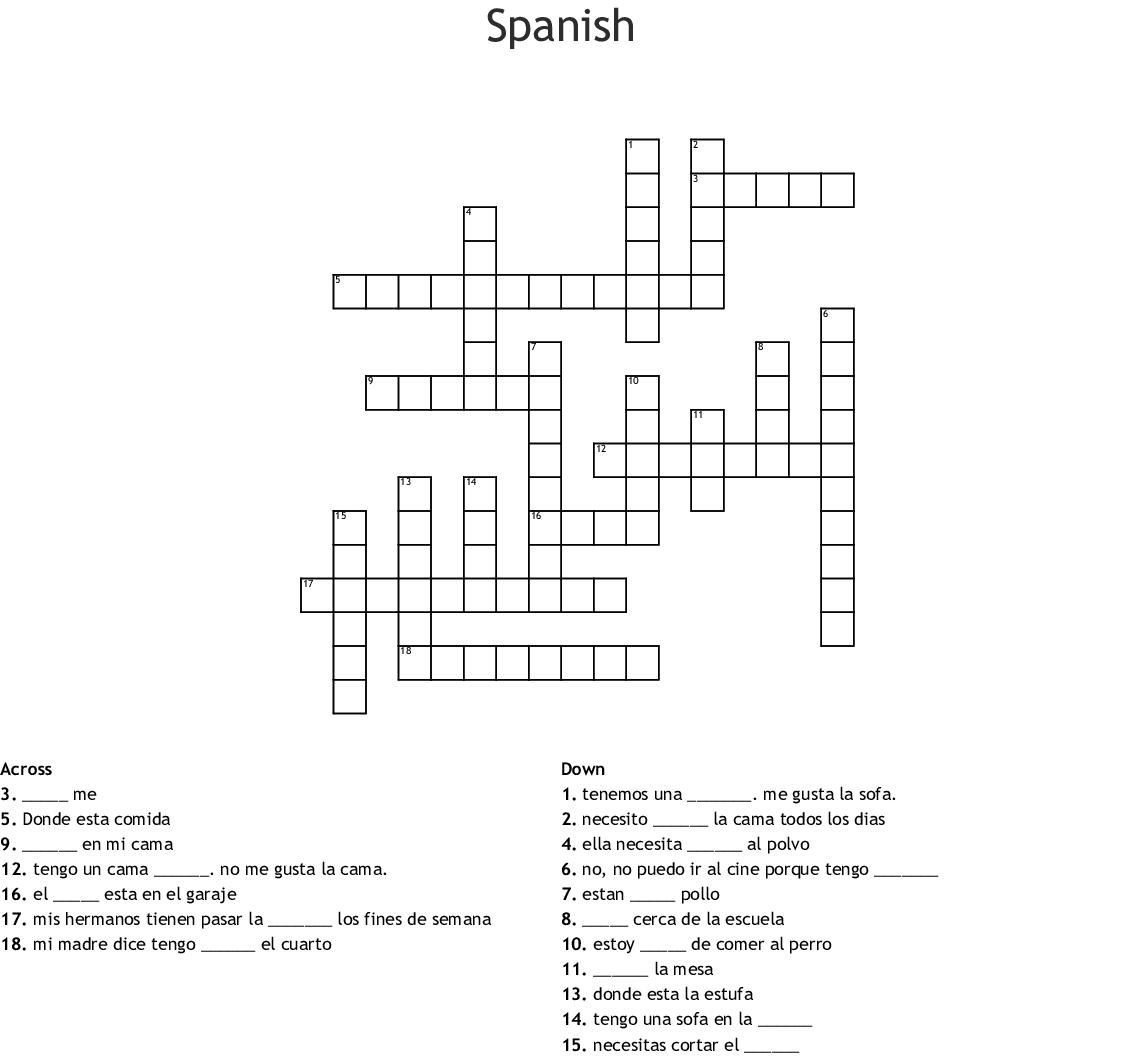 Spanish Crossword