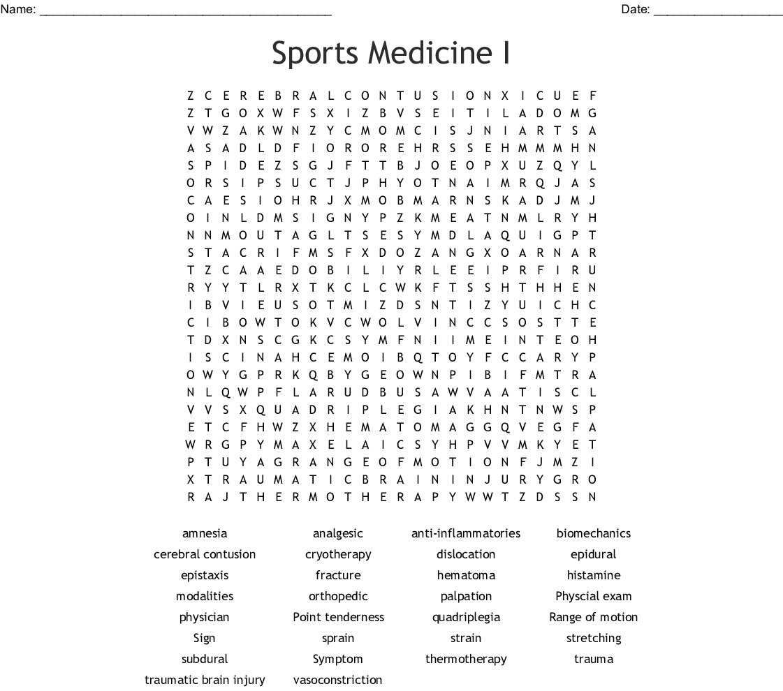 Pain Word Search