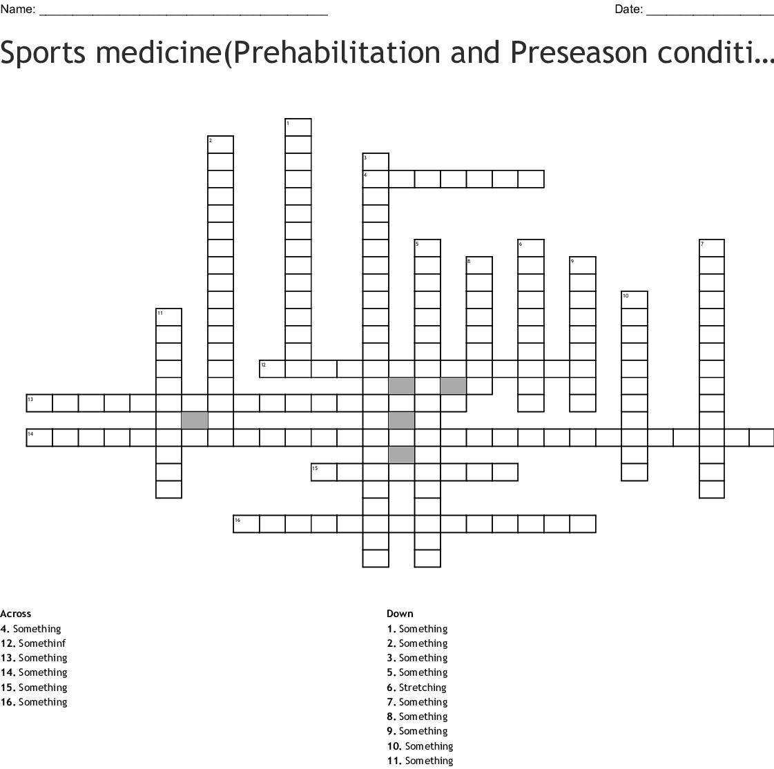Sports Medicine Prehabilitation And Preseason Conditioning
