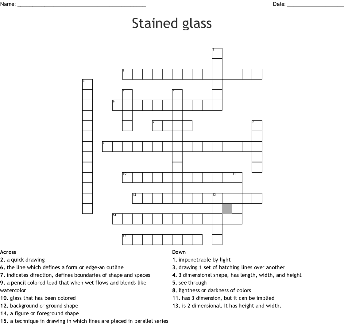 hight resolution of stained glass crossword