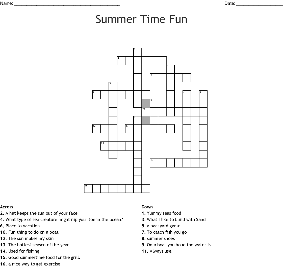 Summer Crossword